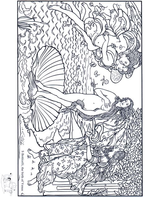 artistic coloring pages painter botticelli coloring pages