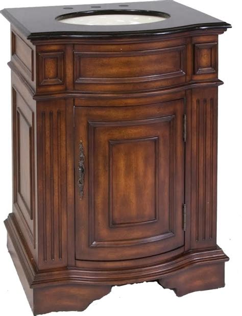 26 inch single sink bathroom vanity in cherry walnut stain