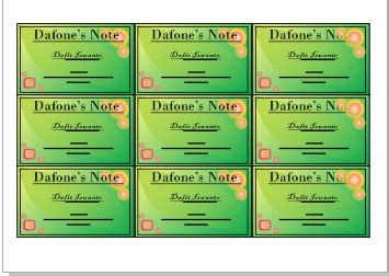 desain kartu nama sederhana desain sederhana kartu nama dengan coreldraw dafone s note