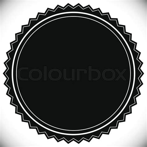 blank seal template blank empty st seal or badge template stock vector