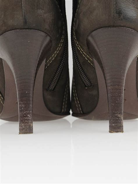 Louise Vuitton High Heels Shoes 9320 5 louis vuitton brown nubuck leather high heel boots size 7