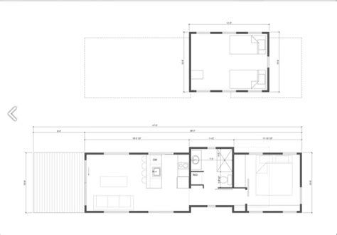 caboose floor plans the caboose 400 sq ft cabin by wheelhaus