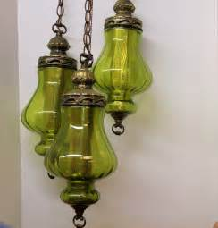 swag lights vintage 3 globe swag light l moss green by