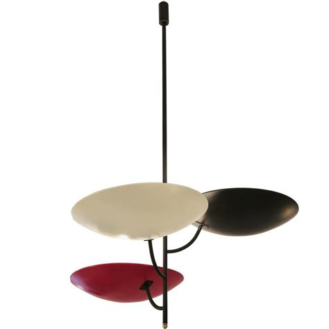 italian three arm ceiling light in black and white
