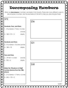 Composing And Decomposing Numbers Worksheet Grade by Compose Decompose Numbers On Decomposing