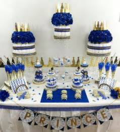 royal prince baby shower decorations royal prince baby shower buffet by platinumdiapercakes