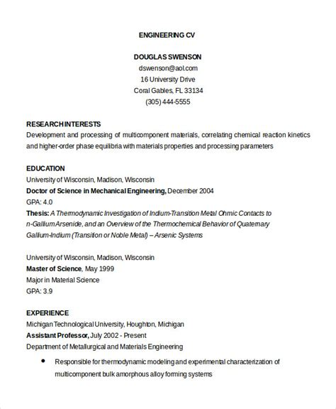 Example Of College Student Resume by Cv Template 20 Free Word Pdf Documents Download Free