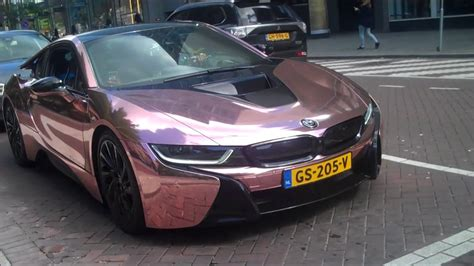 bmw i8 gold rose gold bmw i8 youtube