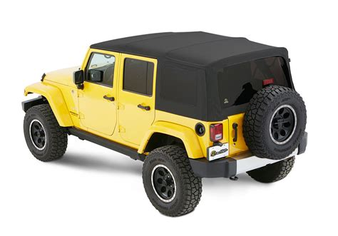 jeep soft top 4 door bestop 54823 71 supertop nx twill soft top with tinted