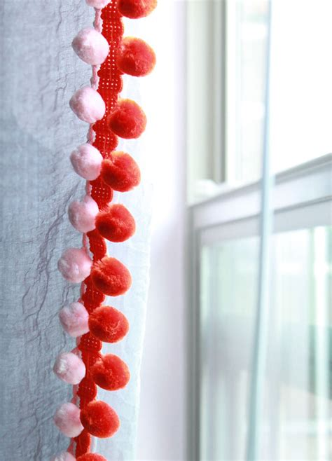 Pom Pom Curtains Designs Pom Pom Curtains Designs Pom Pom Curtain Floor Length Pompom Curtain Loomed And Embroidered