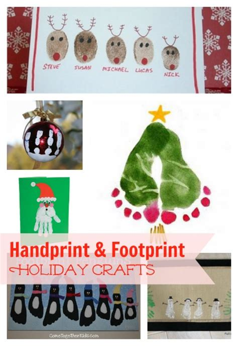crafts for the holidays crafts with fingerprints and footprints