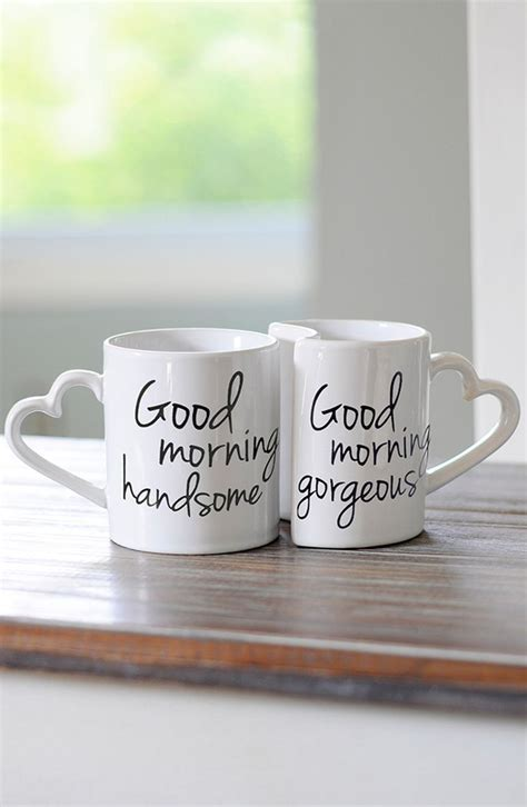 'Good Morning' Ceramic Coffee Mugs   Beautiful good