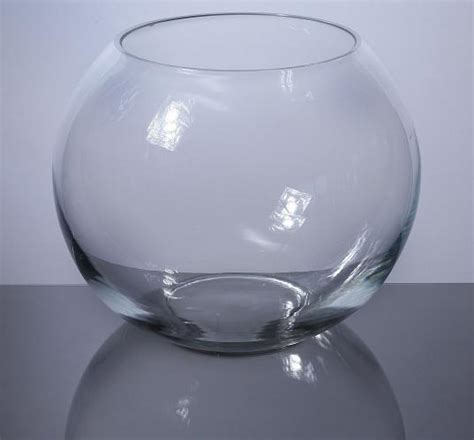 Glass Bowl Vase by Pan Bowl Vases