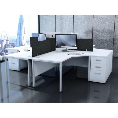 englewood white desk high office storage pedestal