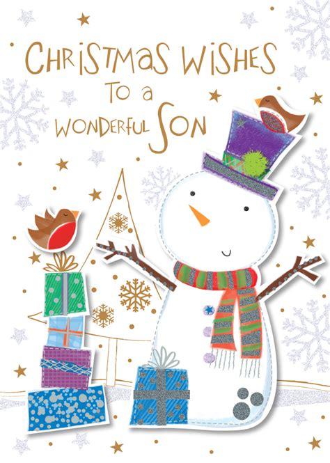 wonderful son happy christmas greeting card cards love kates