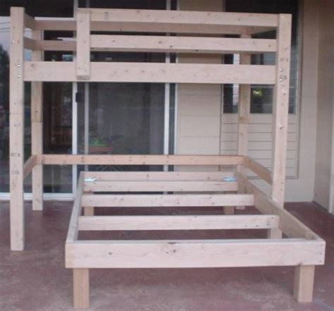 full size loft bed plans  bunkbed plans  bunk