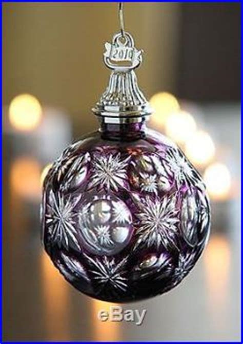 waterford crystal  amethyst cased ball christmas