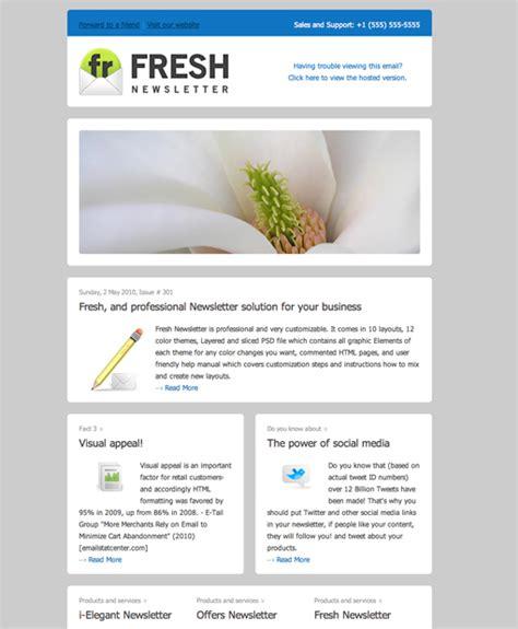 design html newsletter template dise 241 ar newsletters atractivos sebasti 225 n th 252 er