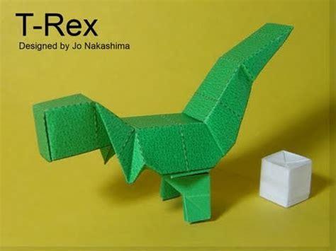Yoshi Origami - origami block t rex v2 jo nakashima dinosaur 3