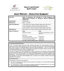 audit summary report template summary report templates 9 free sle exle format
