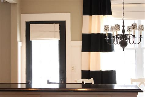 bold black and white striped curtains the yellow cape cod bold striped diy drapes