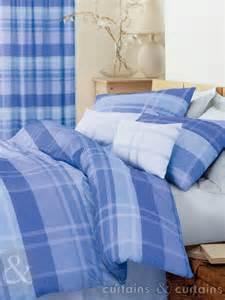 next duvets next cheque blue cotton blend duvet cover bedding uk