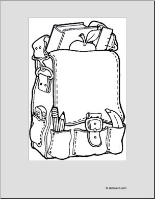 abcteach coloring pages coloring page back pack abcteach
