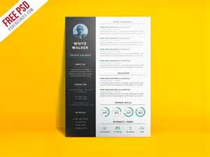simple and clean resume cv template free psd psdfreebies com