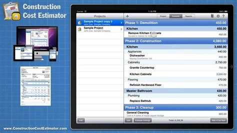 best building design app for mac construction cost estimator app for the mac ipad and