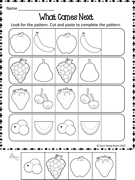 pattern math activities patterns fruit patterns worksheets fruit pattern