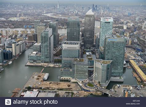 bus canary wharf stock photos bus canary wharf stock an aerial view of the business district of canary wharf in