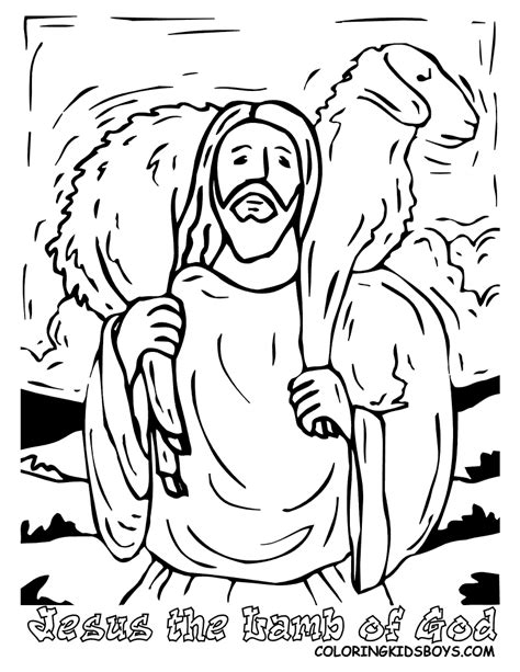 coloring pages of jesus and god jesus lamb of god and good shepehrd coloring pages