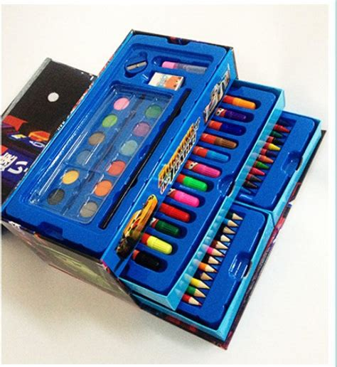 Kotak Crayon Set Isi 54 Pcs 54pcs lot cars lead children crayons sets powdery cake box crayon color brush colour pencil