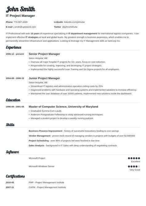 5 Resume Templates by Template For Resume Resume Builder