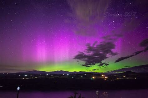 Oregon Northern Lights by Northern Lights In The Columbia River Gorge At Crown