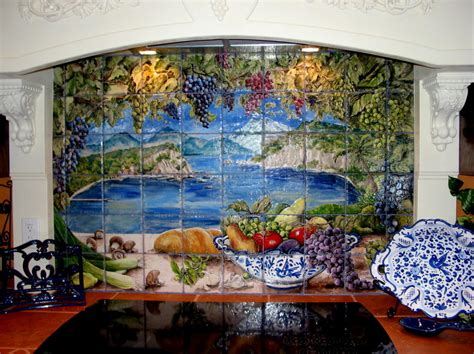 custom murals tiles by mimi tile murals custom hand painted tiles home