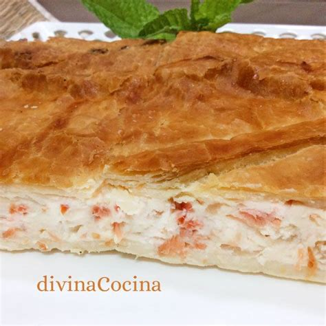 cocinar con hojaldre recetas faciles receta de hojaldre de salm 243 n y queso recetas para