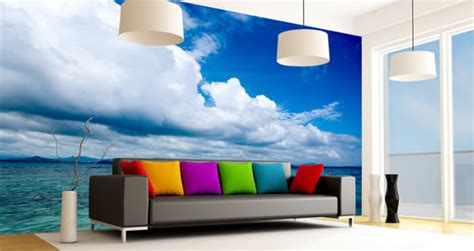 vinyl wall murals heavenly horizon vinyl wall mural dezign with a z
