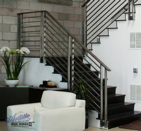 Handrails For Stairs Interior Interior Railings Contemporary Staircase Las Vegas