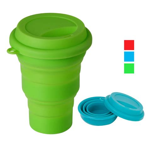 collapsible coffee mug collapsible silicone travel coffee tea mug 16 oz cing travel cup bpa free ebay