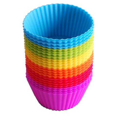 Ananastarte Without Paper Cup 24pack reusable silicone baking cups cupcake liners muffin cups cake molds ebay