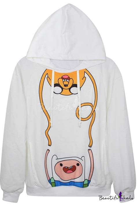 Adventure Time Design Hoodie stylish adventure time print hoodie with sleeve beautifulhalo