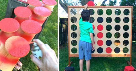 backyard connect four awesome dad rushes to create giant backyard connect 4 game