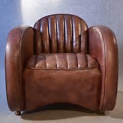 antiques atlas deco leather armchair vintage club