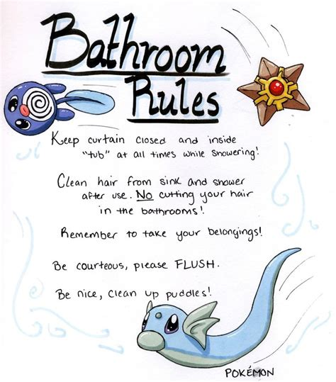 best way to clean up hair in bathroom bathroom rules by katwynn on deviantart