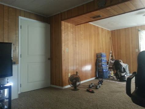how to make wood paneling look modern cooks house painted help i need ideas for dealing with this trailer park