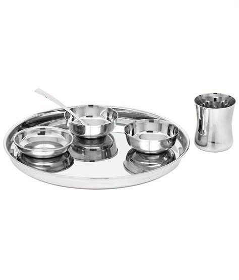Mukti Stainless Steel Buffet Set Buy Online At Best Price Stainless Steel Buffet