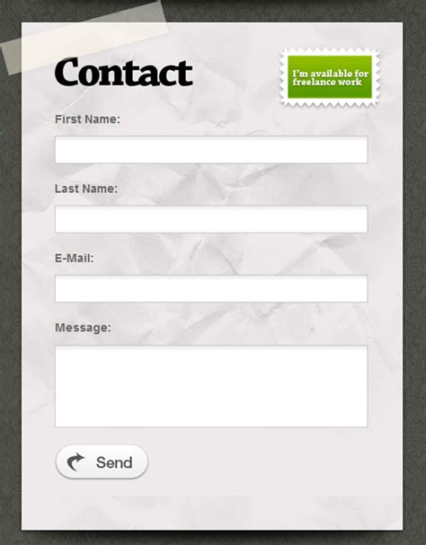 design form website beautiful contact forms for your inspiration webdesigner