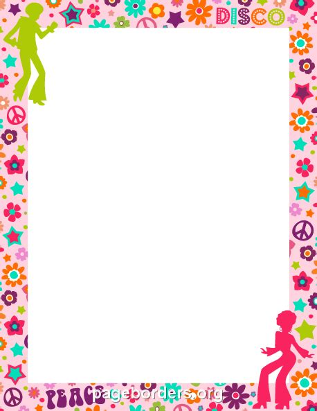 Flat Shoes Pink Bunga Flowers Jelly Flat Shoes Fse022 clip borders and frames free cliparts