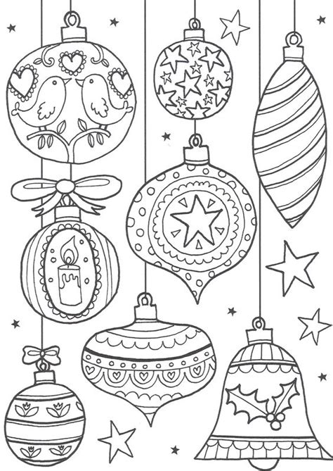 5 christmas ornament coloring pages merry christmas